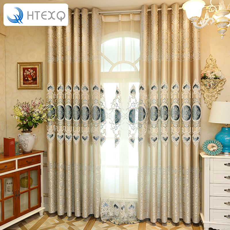 New European interior decoration curtain drapes insulated blackout curtains style jacquard heart window shades curtain drapery(China (Mainland))