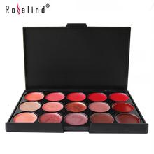 Rosalind Lips Makeup Multicolor Beauty 15 Colors Glitter Lipstick Palette Lip Gloss(China (Mainland))
