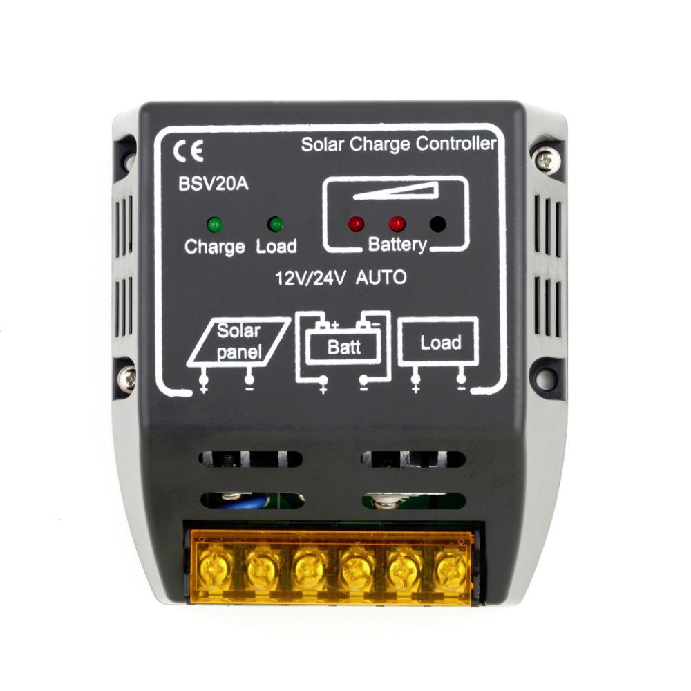 1PCS 20A 12V 24V Solar Panel Charge Controller Battery Regulator Safe Protection Hot Worldwide