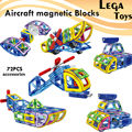 72Pcs Magnetic Designer 3D Building Blocks Aircraft Cars Models Kits Building Toy Plastic DIY Enlighten Bricks