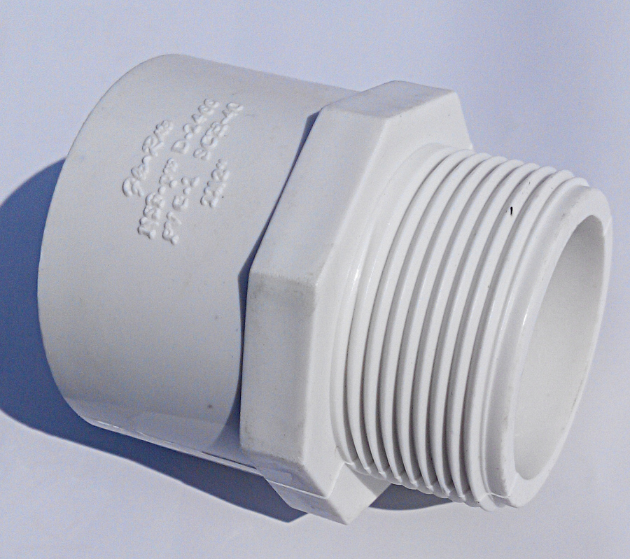 Pvc adapter with female thread for bathtub spare parts