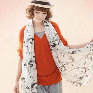 Печатных бархат шарфы зимой шарфы шарфы мэрилин монро