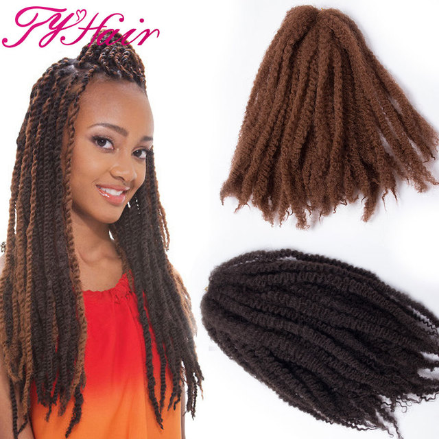 Ombre Marley Braid Hair Crochet Braids 18 inch Havana Hambo Twist ...