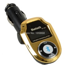 A17 Gold Bluetooth Car Kit MP3 Player FM Transmitter Modulator Remote Control USB/SD Remote Support G0694 T15(China (Mainland))