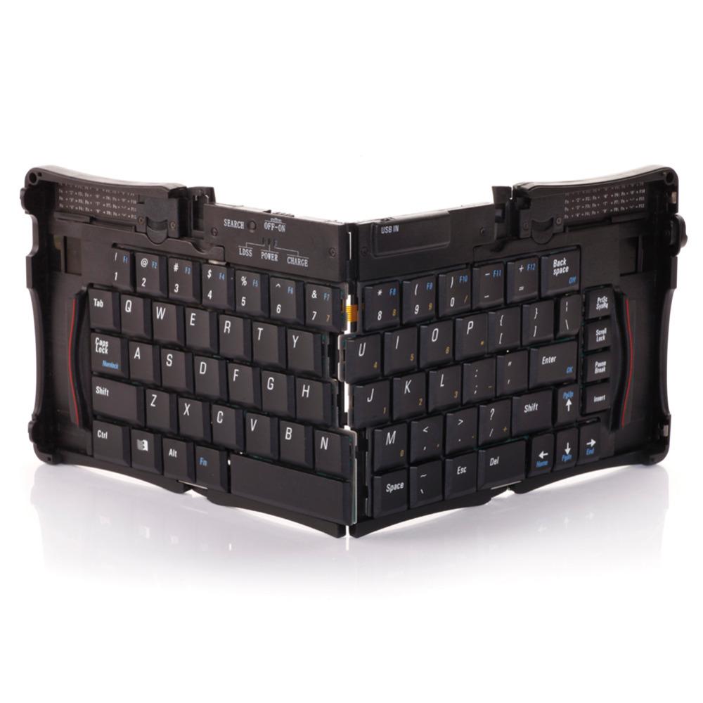 Intelligent Pocket Folding Keyboard Aluminum Bluetooth Foldable Universal Wireless Travel Keypad For PC tablet For iphone ipad(China (Mainland))