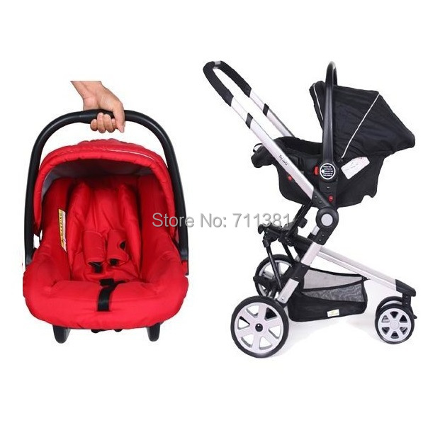 Wholesale Free Shipping Baby Stroller winter summer 3 in 1 Hot Design Lovely Baby Prams In Red 3 in 1 most popular Baby Carriage<br><br>Aliexpress