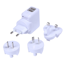 2.1A 2-Port USB Portable Travel AC Plug Charger Converter Home Wall Power Adapter US/EU/AU/UK OD#S - Obvious Decision store