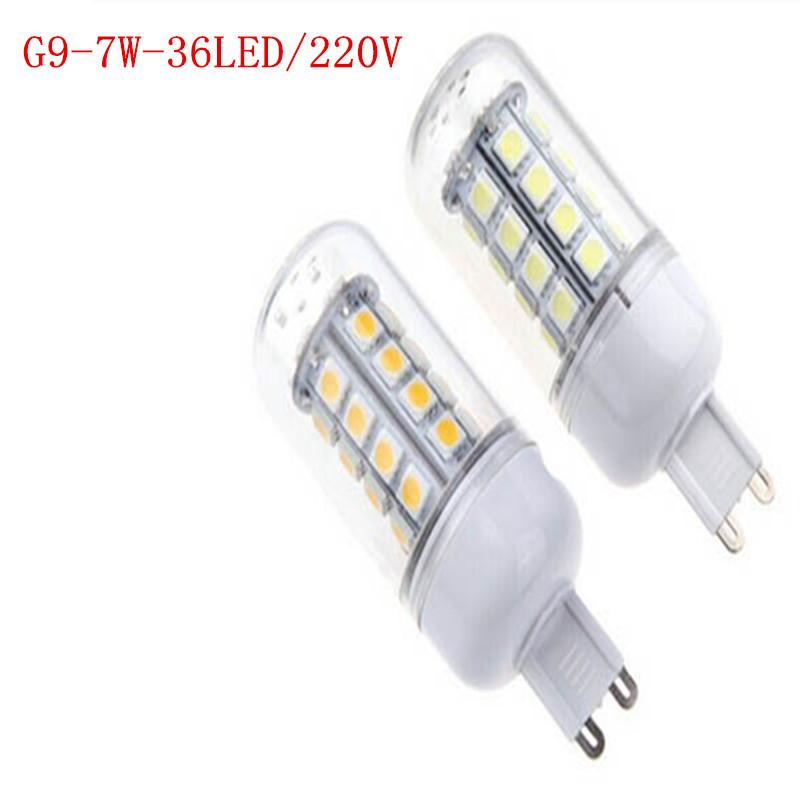 led lamp Smd 5050 36led G9 7w 220v Led Lamp Warm White/white G9 Perfect LED, energy saving, new focus, worthy of your purchase.(China (Mainland))