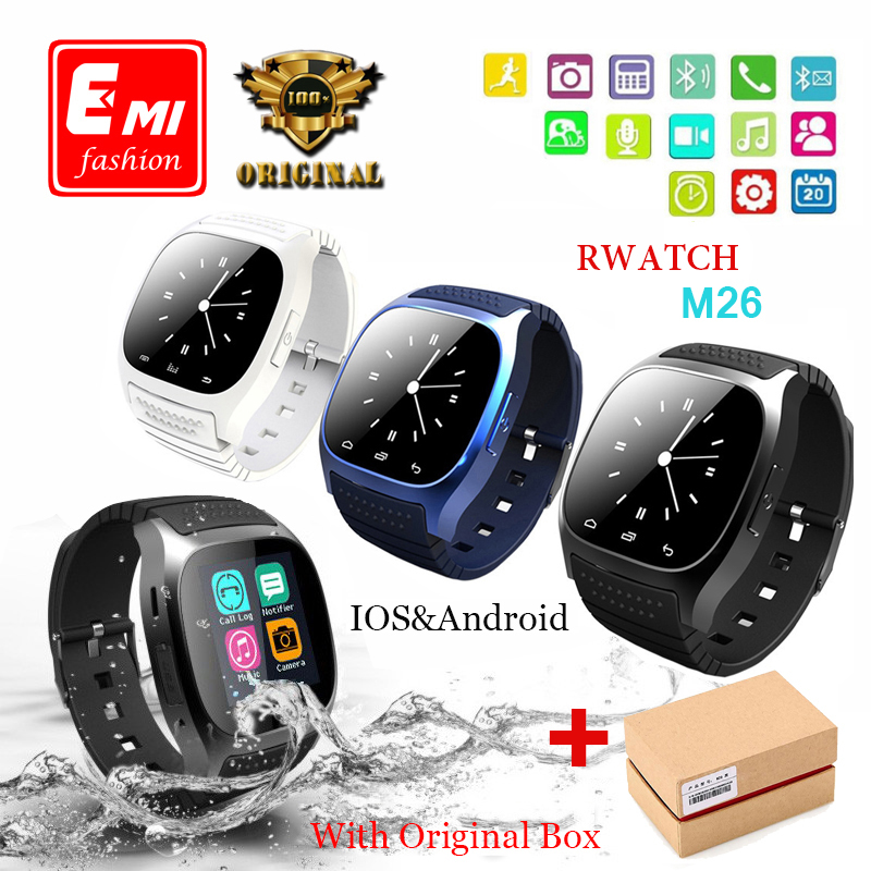 EMI Sport Waterproof Bluetooth Smart Watch luxury wristwatch M26 with Dial SMS Remind Pedometer for Android Samsung xiaomi phone(China (Mainland))