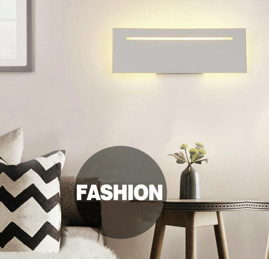 Фотография Simple LED Wall Lamp Wall Sconce White Housing Indoor Foyer Corridor Lighting Saloon Lamp AC85-265V LED Wall Lights Mi50