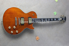 factory sellers HOT SALE electric guitar 2 pickups Earth marked Memorial section flame fingerboard Cheap price 150810-1(China (Mainland))
