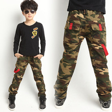 4-12 years New autumn paragraph boy pants big virgin cotton pants Korean boys camouflage teanage 10 12 sports 1062B(China (Mainland))