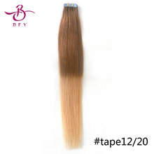 16inch 20pcs /30g Tape in Human Hair Extensions Silky Straight #613 light blonde  PU SKIN WEFT  19colors in stock