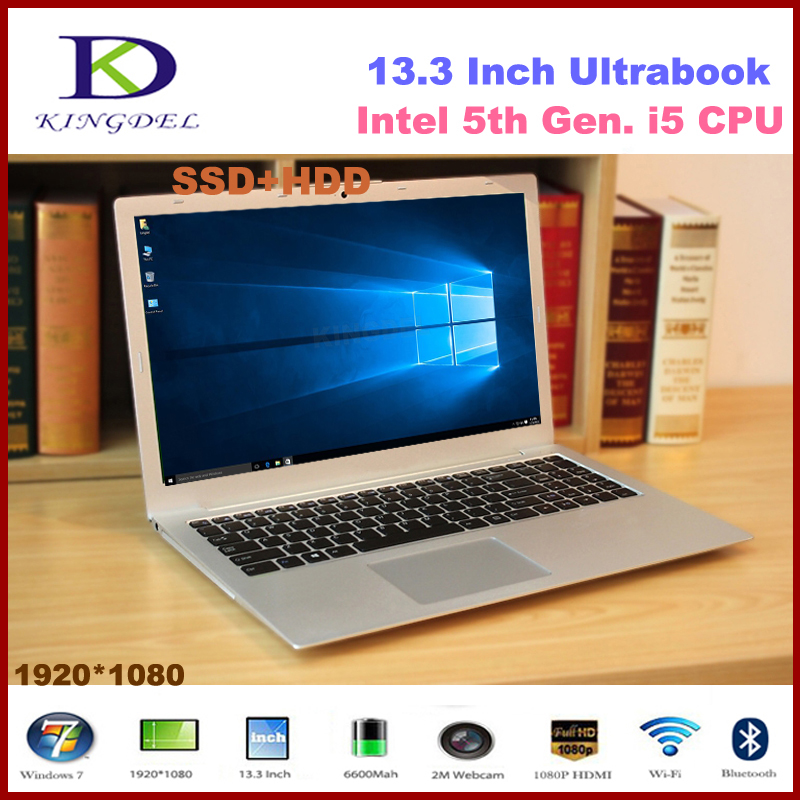 13 3 inch Core i5 5200U Dual Core Mini ultrabook laptop 8GB RAM 128GB SSD 1T
