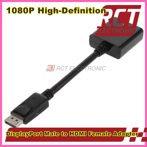 2015 New DisplayPort Male New DP to HDMI Female Converter Adapter Cable Free shipping(China (Mainland))