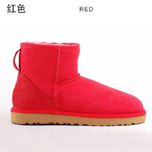 Klasik koyun derisi deri gerçek koyun kürk astarlı kış kısa ayak bileği süet kar botları kadın kış ayakkabı daireler siyah kahverengi(China)