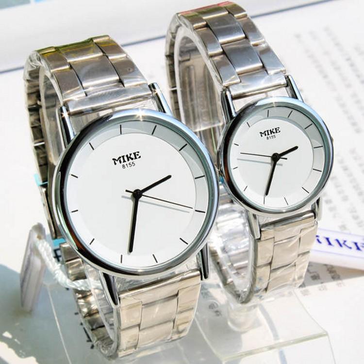 2015 New Brand Luxury Couple Lover Women Men Quartz watches Full Stainless Steel Wrist Watch Waterproof Function watches(China (Mainland))