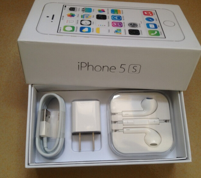 Original Quality US/EU Version New Phone Cell Packaging Box For iPhone 5 5S With Full Accessories(China (Mainland))