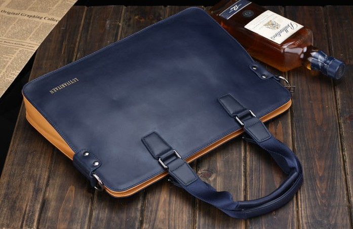 Man leisure bag genuine leather men laptop business messenger bag handbag free shipping<br><br>Aliexpress