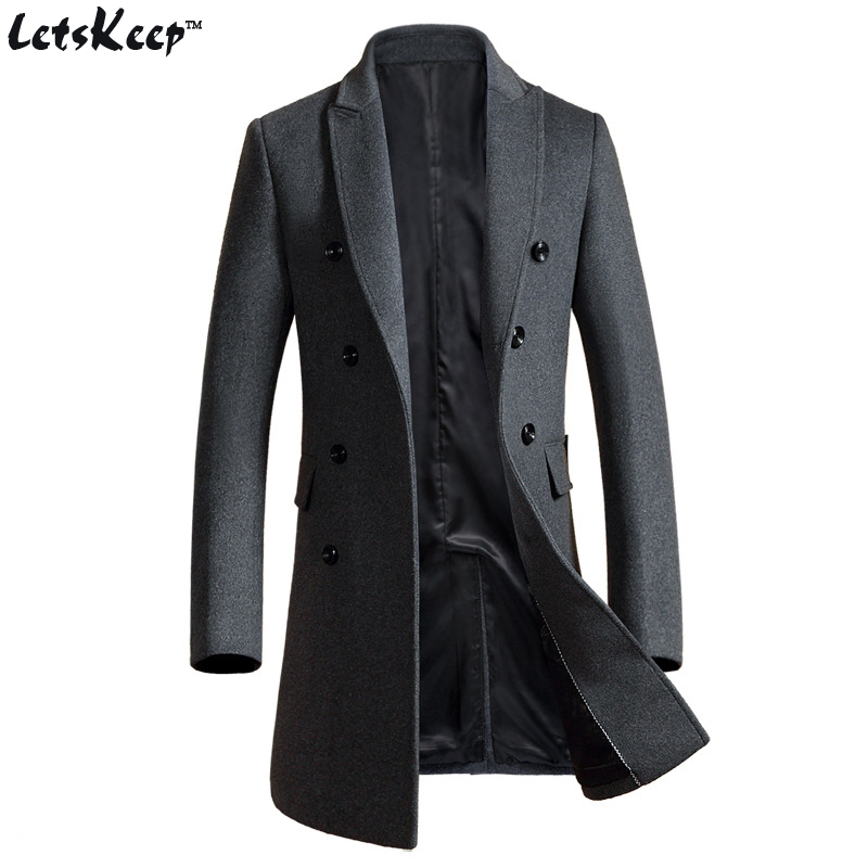 Popular Double Breasted Peacoat for Men-Buy Cheap Double Breasted