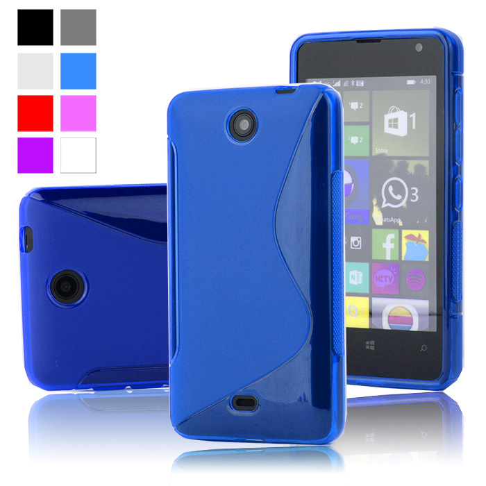 For Lumia 430 S Line TPU Silicone Rubber Soft Case For Microsoft Nokia Lumia 430 Back Skin Cover Cell Phone Protective Cases(China (Mainland))