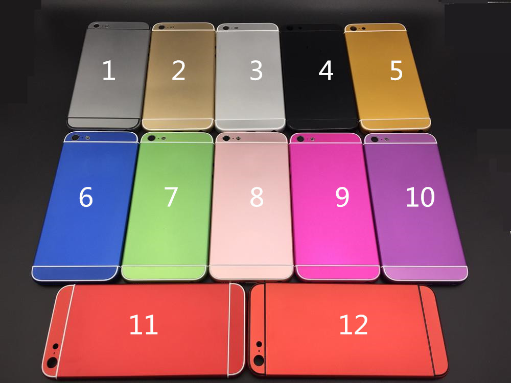 For iPhone 5 Back Housing Replace to iPhone 6 style Back Cover Make 5G to 6 mini Back Housing Gold,black,red,blue,pink,silver