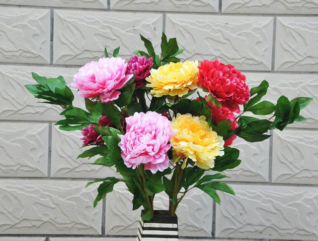 3 peony artificial flower silk flower artificial flower bowyer artificial flower