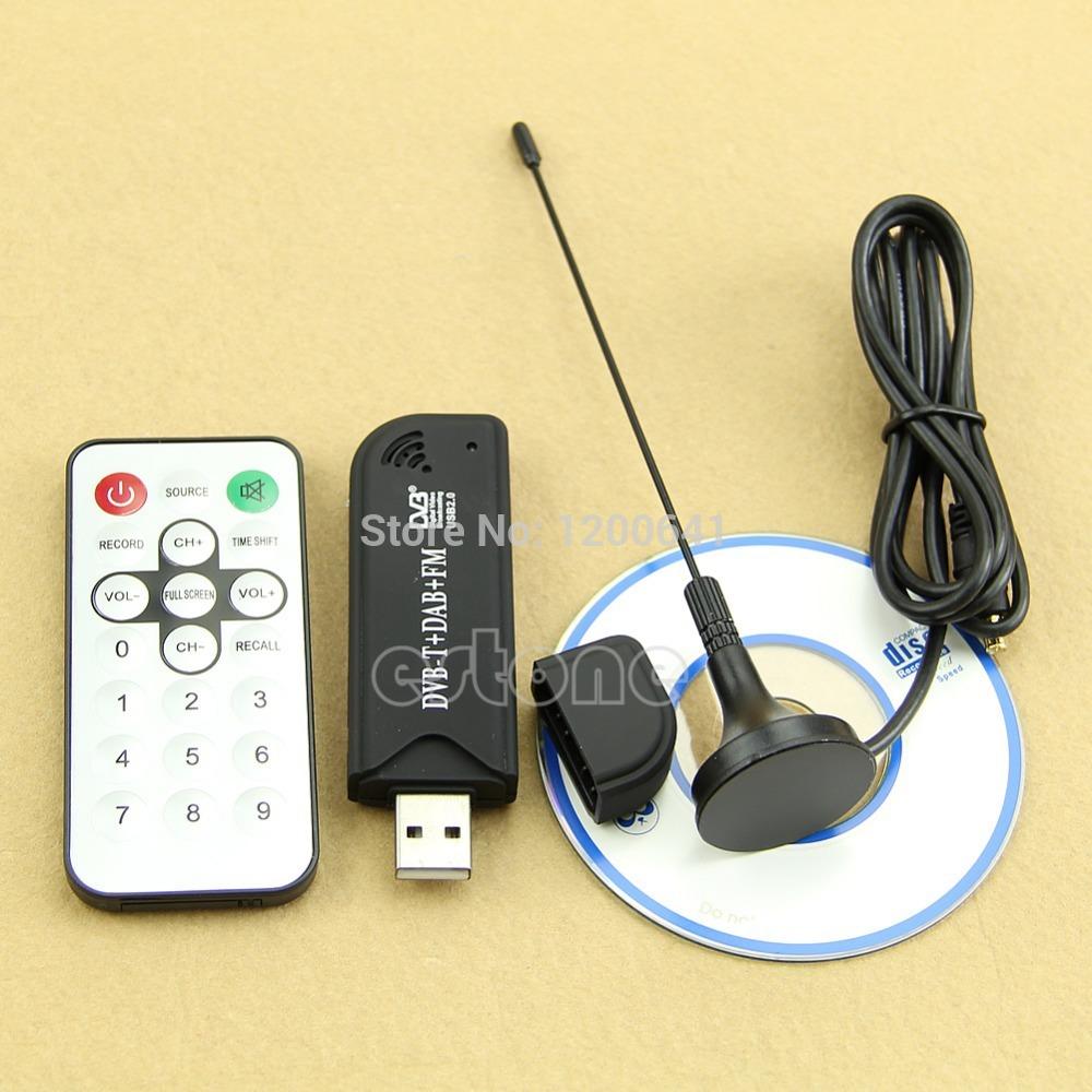 Free Shipping USB2.0 Digital DVB-T SDR+DAB+FM HDTV TV Tuner Receiver Stick HE RTL2832U+R820T(China (Mainland))