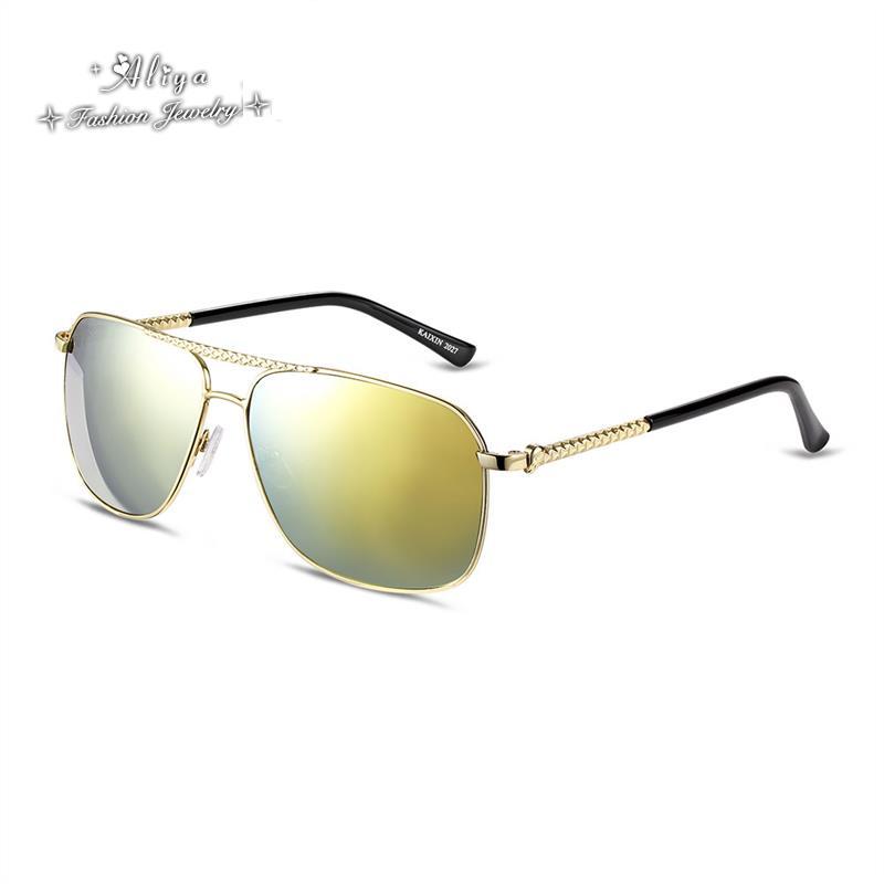 2016 New Metal Frame Polarized Gradual change mirror Lenses UV 400 Protection Optical Fashion Sun Glasses for men Free Shipping(China (Mainland))
