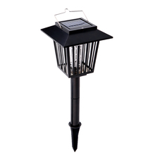 Ricaricabile ad energia solare lampada insetticida 3 ha condotto la luce zanzara pest bug repeller killer per outdoor garden home office(China (Mainland))