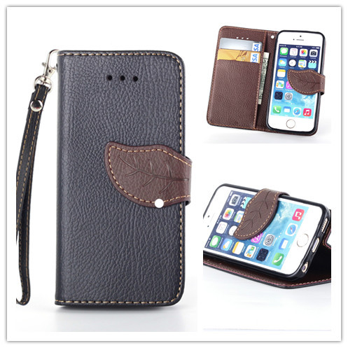 Last 3 days big discount Phone Accessories leather holster cover for iPhone 5 5s SE with wallet bag credit card slot and stand(China (Mainland))