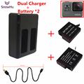 GoPro Hero 5 Battery 2PCS 1220mAh GoPro 5 Battery USB Dual Battery Charger For GoPro Hero5