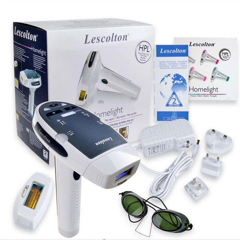 Free Shipping Hot product Lescolton Laser IPL Permanent Hair Removal machine for Face and Body Home with retail box