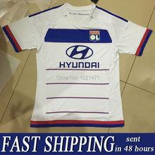New arrival Player version 15/16 Lyon jersey home white Olympique Lyonnais shirt 2015 Lacazette Gourcuff Briand Gomis Grenier (China (Mainland))