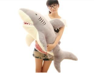 Big Gaint Shark Plush Toy Stuffed Animal Wholesale Gift 60cm One Piece(China (Mainland))