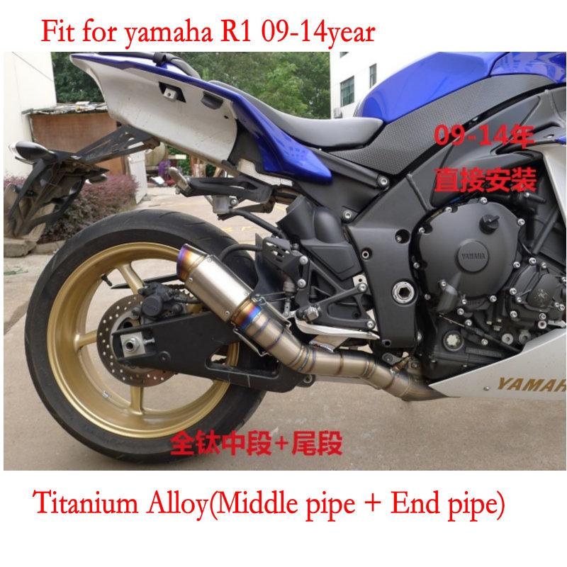 MOKALI modificado escape echappement moto escape pipe motorcycle exhaust muffler for yamaha r1 09-14year(China (Mainland))