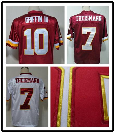 #7 Joe Theismann #10 Robert Griffin jersey Throwback american Football Jersey throwback redskin Jersey y tops(China (Mainland))