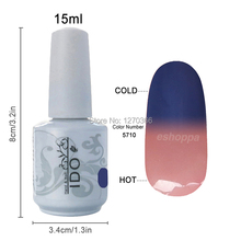 Beautiful 36 color IDO 5710 Colorful Nail Art Designs Lacquer UV Temperature Change UV Gel Nail Polish