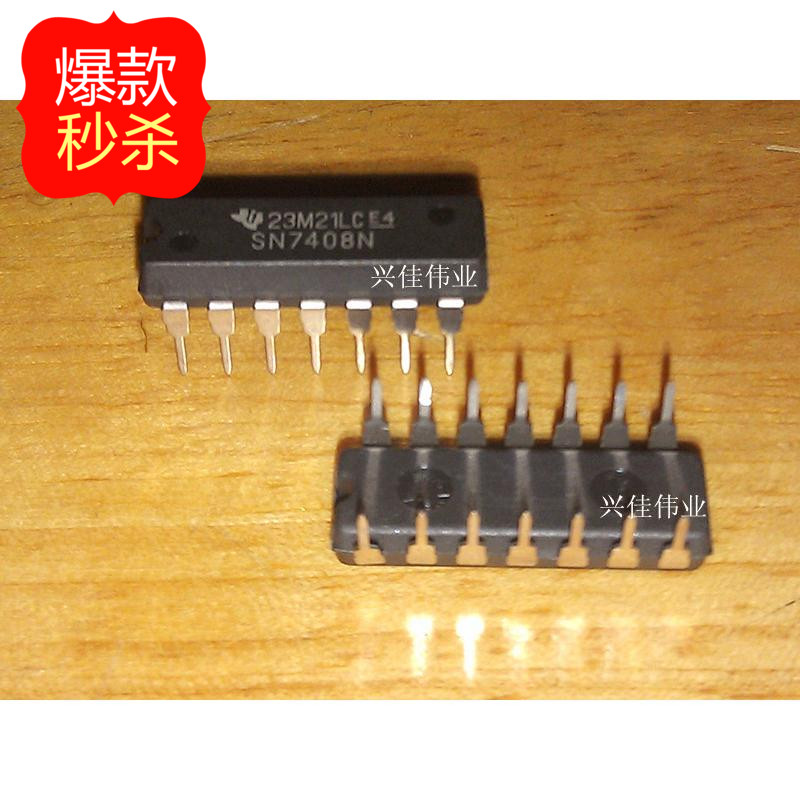 New original authentic 7408 SN7408N DIP14 line IC imports TI - XJDZ(China (Mainland))