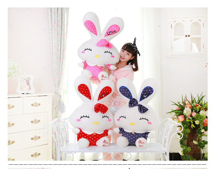 big new plush love rabbit toy stufffed long ears love rabbit doll gift about 60cm a842(China (Mainland))