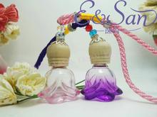 Wholesale FMA32-6ML spray color rose small boutique car pendant perfume bottle 100pcs/lot(China (Mainland))
