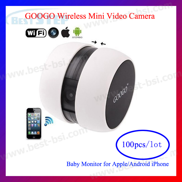 100PCS/LOT Free shipping by DHL GOOGO mini Wireless WIFI Camera IP Camera webcam Web CCTV Camera Concentrate on iOS & Android(China (Mainland))