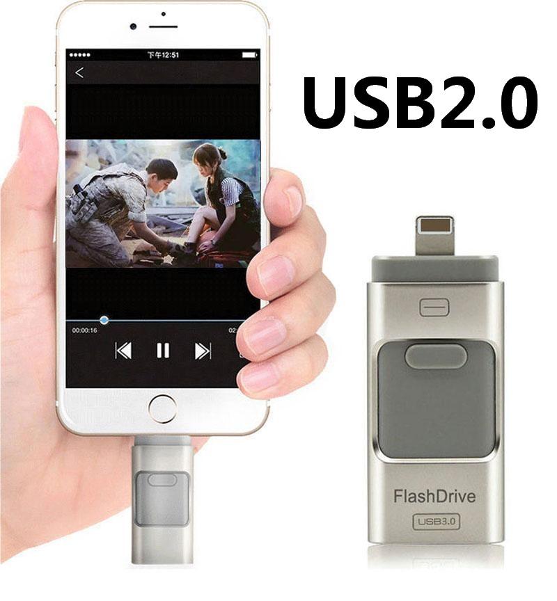 For iPhone 6 6s Plus 5 5S ipad Pen drive HD memory stick Dual purpose mobile OTG Micro USB Flash Drive 16GB 32GB 64GB PENDRIVE(China (Mainland))