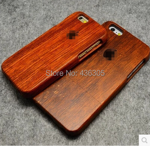Handcrafted Genuine Rosewood Solid Wood Case for Apple iPhone 6 & 6 Plus Natural True hardwoods Original Logo Carved Back Cover(China (Mainland))