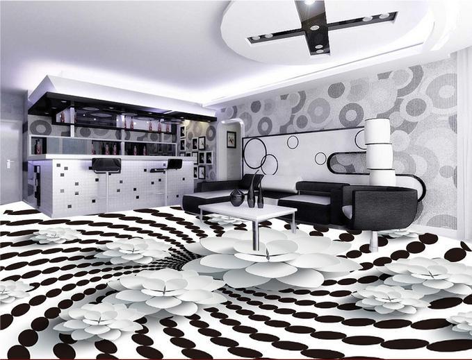 Compra blanco y negro azulejo de piso online al por mayor for Suelo 3d blanco