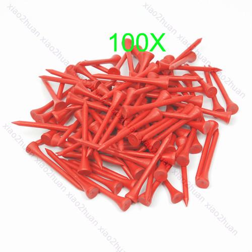 Hot 100Pcs 70mm Red Golf Ball Wood Tee WoodenTees New Free Shipping(China (Mainland))