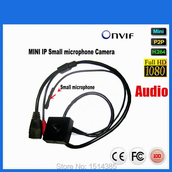 2016 Hot Selling Mini Audio Video Camera 1920*1080P Ip Camera 1080P Onvif 2 Megapixel Pinhole IP camera Hide With Microphone(China (Mainland))