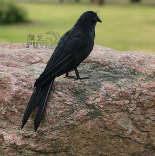 Artificielle corbeau à domicile de la Cage décoration Phtogragh accessoires Arificial Raven jardin ornement(China (Mainland))