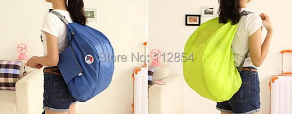 Free Shipping+Wholesale Travel iconic multifunctional folding storage bag shoulder bag backpack,50pcs/lot(China (Mainland))