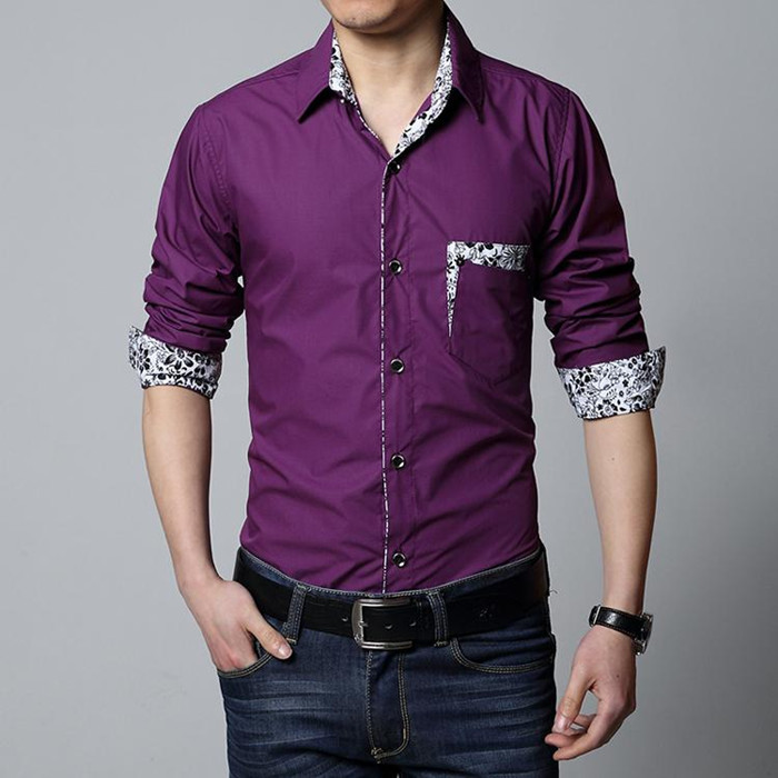 michley brand 2015 new design men shirt mens long sleeve